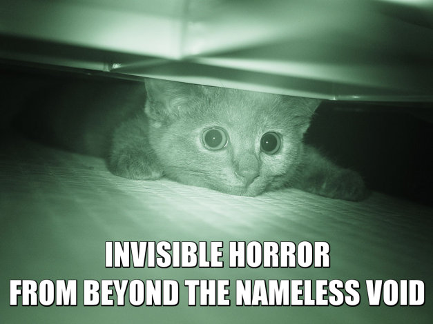 INVISIBLE HORROR FROM BEYOND THE NAMELESS VOID